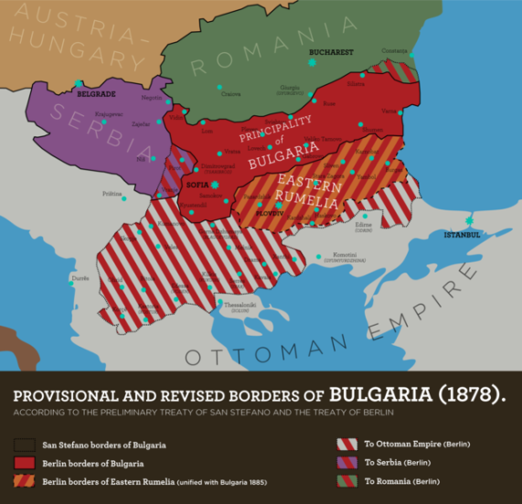 Bulgarian borders after Treaty of Berlin. Click for zoom.