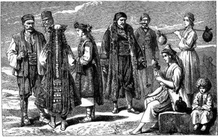 Bulgarian peasants, 1877.
