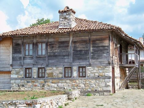 Typical present-day , house in Strandzha, likely not much different than in the late 1800s.