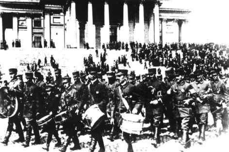 White Guard victory parade in Helsinki.