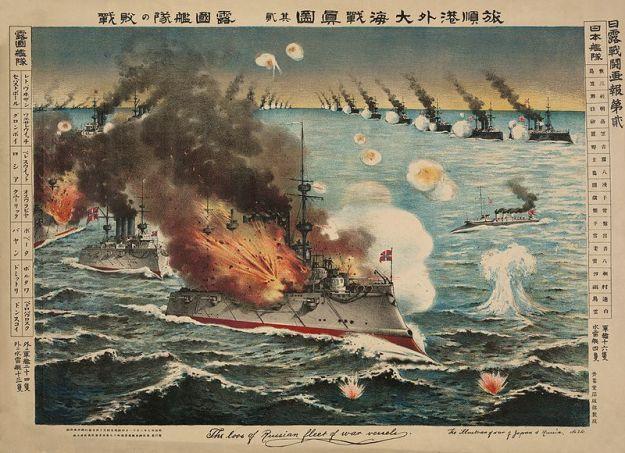 """The Battle of Port Arthur"" by Torajio Kasai, 1904."