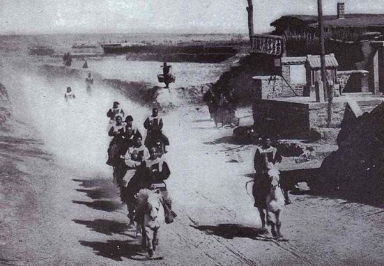 The Honghuzi bandits of Manchuria sabotaged the rail lines.