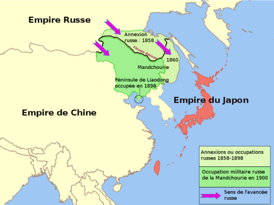 Russia-China-Manchuria