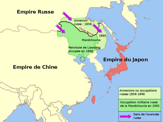 Russia-China-Manchuria