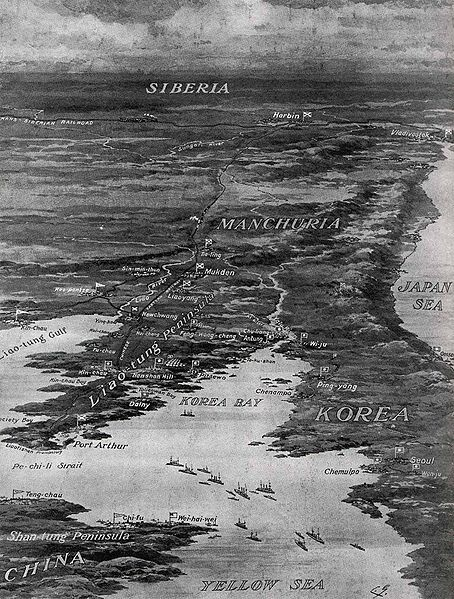 This illustration shows the area under contention between Russia and Japan. Click for zoom.