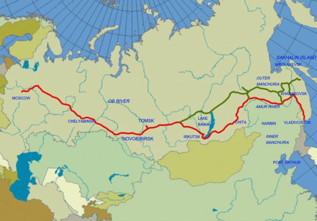 Trans-Siberian map