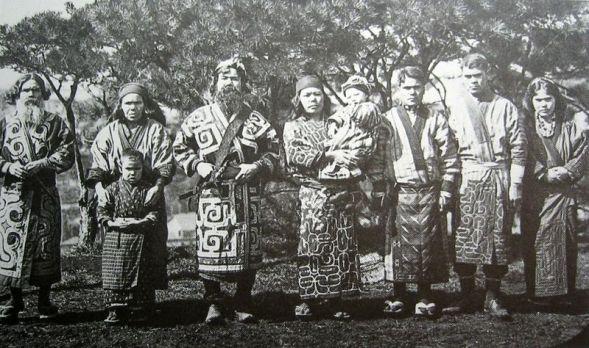 Ainu people, 1904.