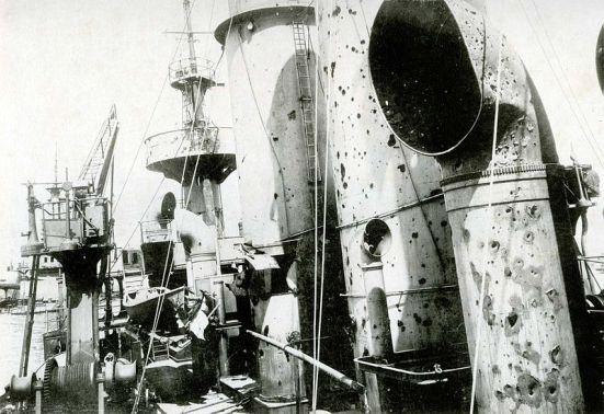 """Damage to battleship """"Retvizan."""""""