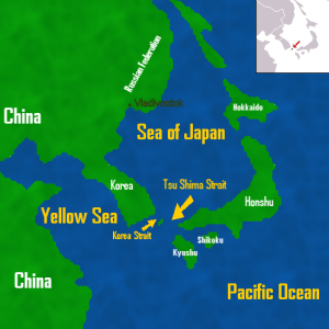 Area of Tsushima Straits.