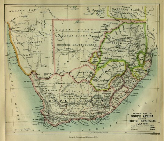 Southern Africa, 1885.