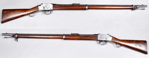 Martini-Henry rifles.