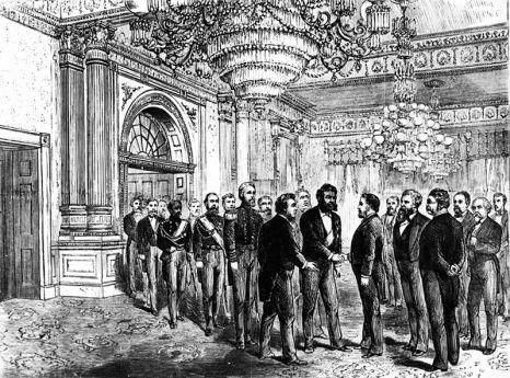 King Kalakaua meets President Grant.