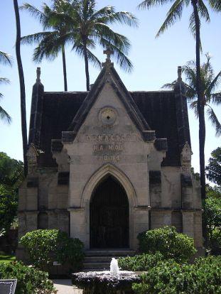 Lunalilo's tomb.