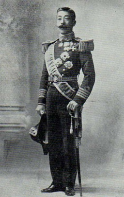 Prince Yorohito Higoshifushimi (his later formal name). He fought in the wars against China and Russia.