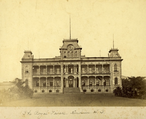 Iolani Palace in 1885.