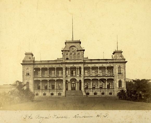 Iolani Palace in 1885.