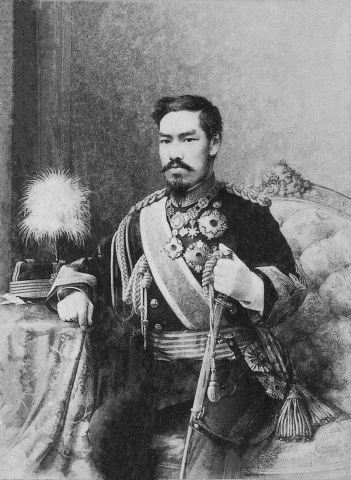 Emperor Meiji. Portrait by Eduardo Chiossone.