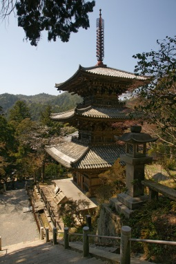Pagoda of Buddhist temple in Japan.