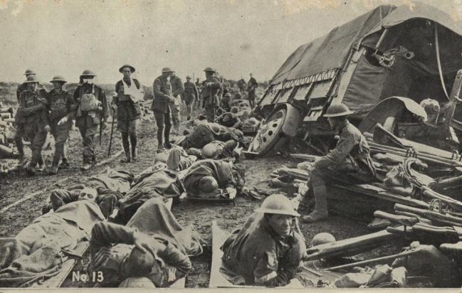 ...and here on the Menin Road, 1917.