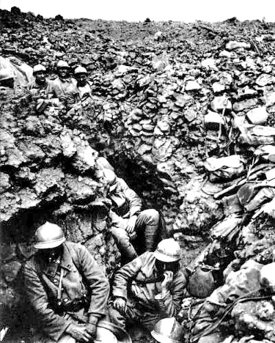 Trench on Cote 304 at Verdun---a place Barthas came to know well.