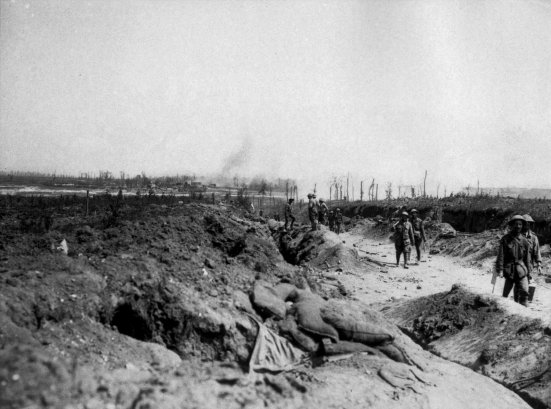 Road to Pozieres at the Somme, August 1916. The 13th were in this area.