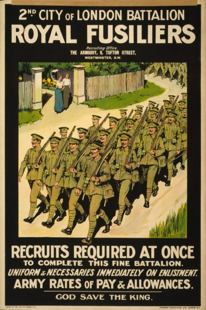Recruiting poster for Royal Fusiliers.