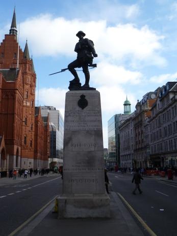 Royal Fusiliers memorial, High Holborn Street, London.