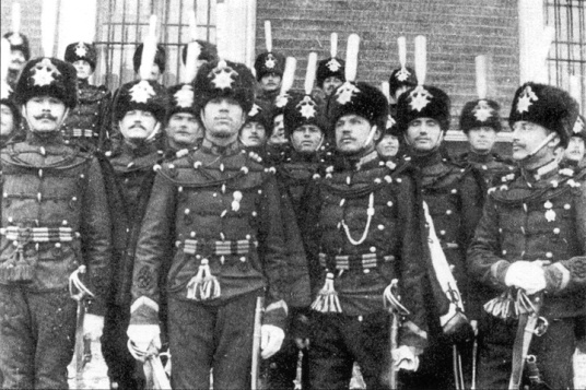 Russian hussars, 1910.