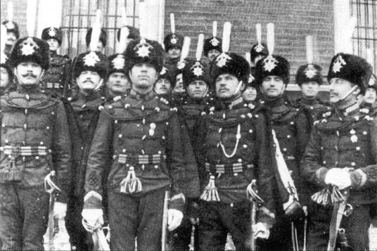 Russian hussars, 1910.