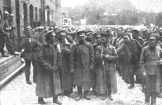 Russian prisoners at Tannenberg.