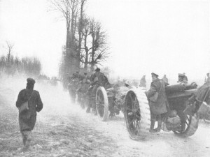 British troops retreat, Spring Offensive.