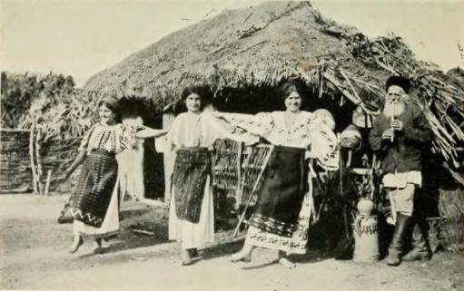 Romanian peasants dancing.