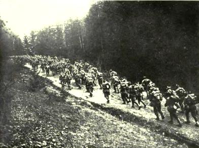Romanian troops in Transylvania.