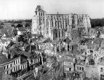 Ruins of cathedral of St. Quentin.