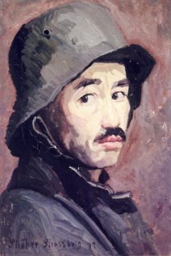 Self portrait with steel helmet