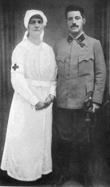 Kreisler as an officer of the Austrian Reserve and his wife as nurse.