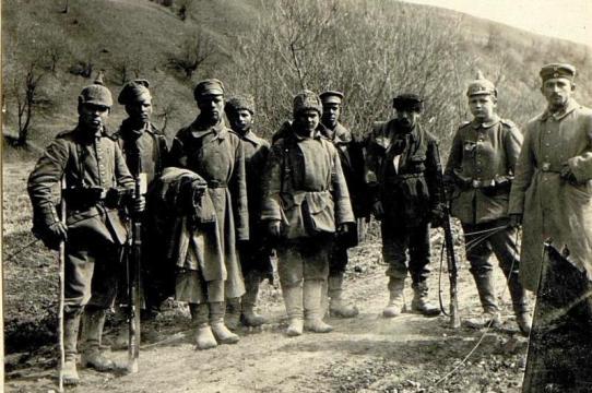 Russian prisoners in Galicia.
