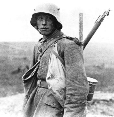German soldier, Western Front.
