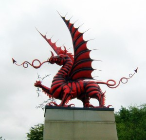 Memorial at Mametz Wood commemorating the 38th Division, of which the RWF were a part.