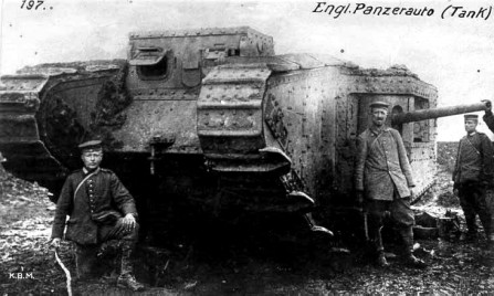 Captured English tank at Arras.