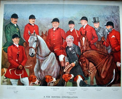 """Group of Hunters."" From Vanity Fair, 1905."